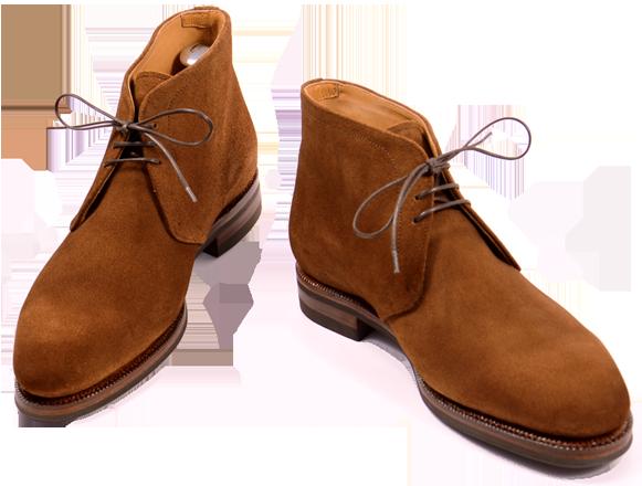 Semišové chukka boots.